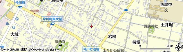 愛知県西尾市今川町周辺の地図