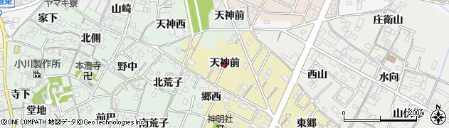 愛知県西尾市富山町(天神前)周辺の地図