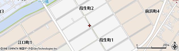 愛知県碧南市葭生町周辺の地図