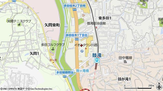 〒666-0124 兵庫県川西市多田桜木の地図