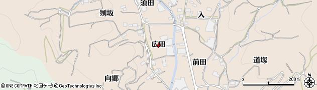 愛知県蒲郡市坂本町(広田)周辺の地図