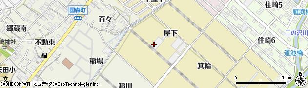 愛知県西尾市新在家町周辺の地図