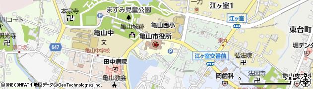 三重県亀山市周辺の地図