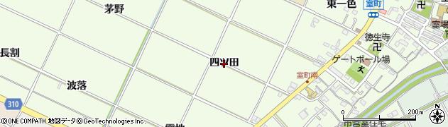 愛知県西尾市室町(四ツ田)周辺の地図