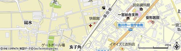 愛知県豊川市大木町(鑓水)周辺の地図