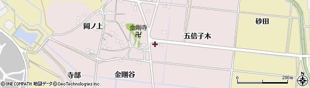 愛知県豊川市西原町(五倍子木)周辺の地図