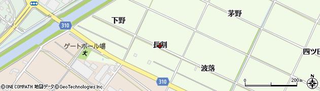 愛知県西尾市室町(長割)周辺の地図