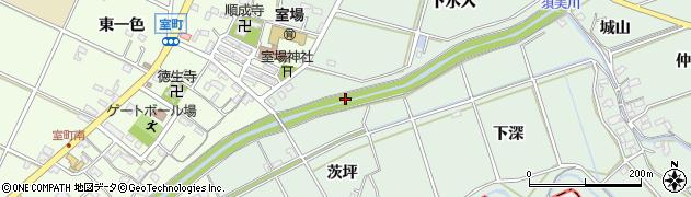 愛知県西尾市家武町(投引)周辺の地図
