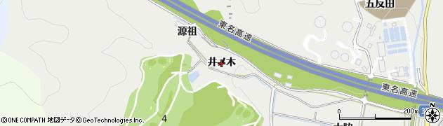 愛知県豊川市平尾町(井ノ木)周辺の地図