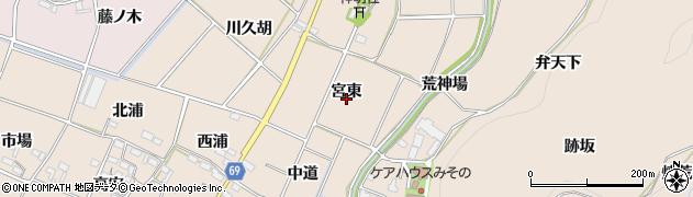 愛知県豊川市金沢町(宮東)周辺の地図