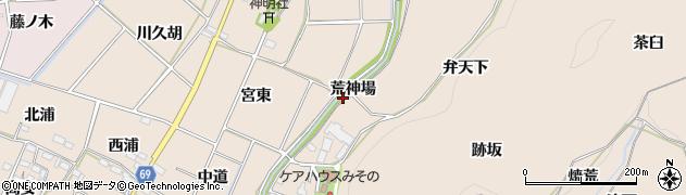 愛知県豊川市金沢町(荒神場)周辺の地図