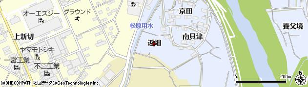 愛知県豊川市松原町(近畑)周辺の地図