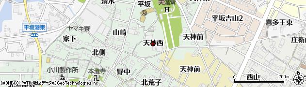 愛知県西尾市楠村町(天神西)周辺の地図