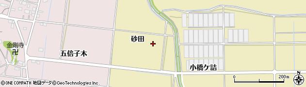 愛知県豊川市大木町(砂田)周辺の地図