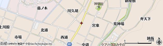 愛知県豊川市金沢町(番場)周辺の地図