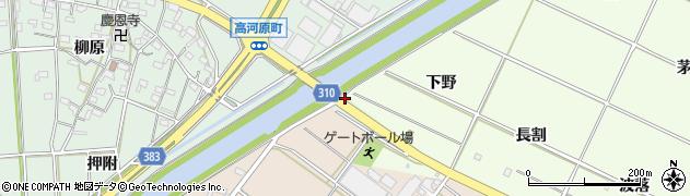 愛知県西尾市高河原町(籠田)周辺の地図