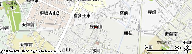 愛知県西尾市上矢田町(庄衛山)周辺の地図