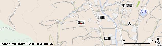 愛知県蒲郡市坂本町(刎坂)周辺の地図