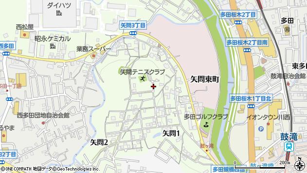 〒666-0131 兵庫県川西市矢問の地図