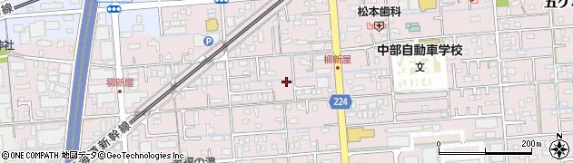 静岡県焼津市柳新屋周辺の地図