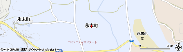 広島県庄原市永末町周辺の地図
