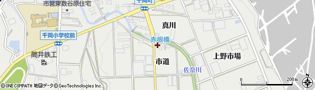 愛知県豊川市千両町(上蛇穴)周辺の地図