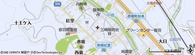 愛知県豊川市赤坂町周辺の地図