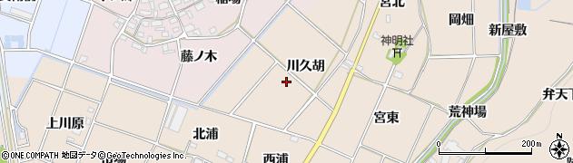 愛知県豊川市金沢町(川久胡)周辺の地図