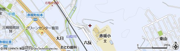 愛知県豊川市赤坂町(六反)周辺の地図