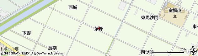 愛知県西尾市室町(茅野)周辺の地図