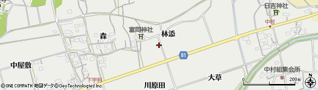愛知県新城市富岡(林添)周辺の地図