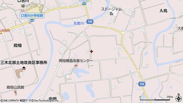 〒673-0756 兵庫県三木市口吉川町南畑の地図