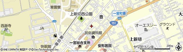 愛知県豊川市一宮町(豊)周辺の地図