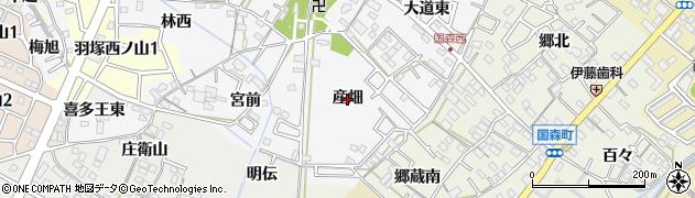 愛知県西尾市羽塚町(産畑)周辺の地図