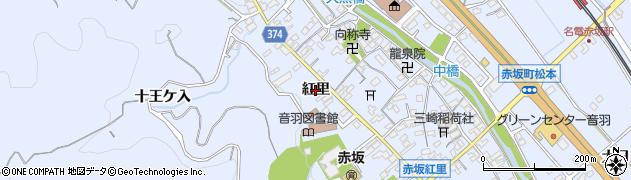 愛知県豊川市赤坂町(紅里)周辺の地図