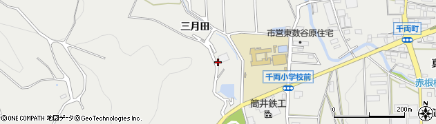 愛知県豊川市千両町(三月田)周辺の地図