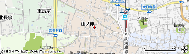 愛知県武豊町(知多郡)山ノ神周辺の地図