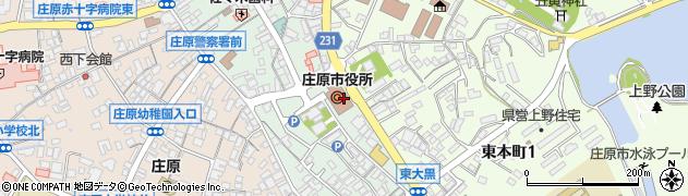 広島県庄原市周辺の地図