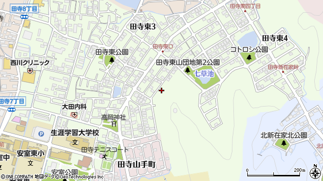 〒670-0081 兵庫県姫路市田寺東の地図