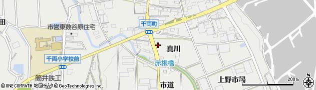 愛知県豊川市千両町(真川)周辺の地図