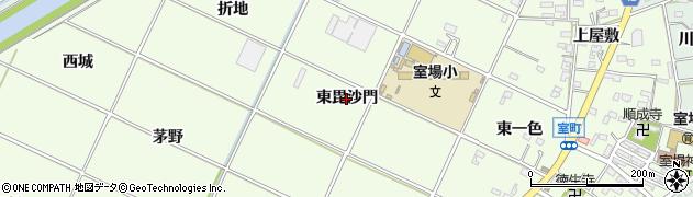 愛知県西尾市室町(東毘沙門)周辺の地図