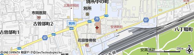 大阪府高槻市別所新町周辺の地図