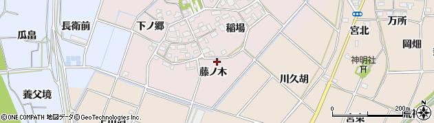 愛知県豊川市江島町(藤ノ木)周辺の地図