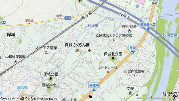 〒670-0804 兵庫県姫路市保城の地図
