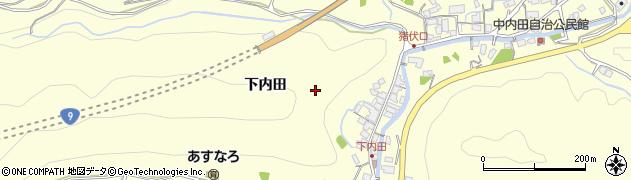 島根県浜田市内田町(下内田)周辺の地図