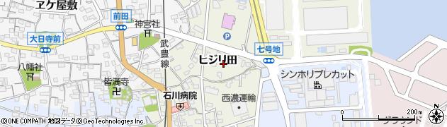 愛知県武豊町(知多郡)ヒジリ田周辺の地図