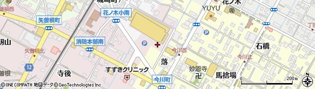 愛知県西尾市矢曽根町(長配)周辺の地図