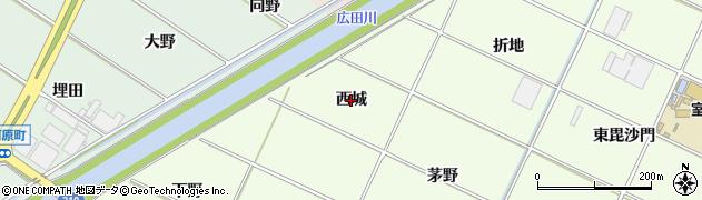 愛知県西尾市室町(西城)周辺の地図