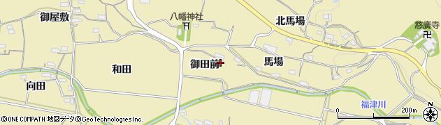 愛知県新城市中宇利(御田前)周辺の地図