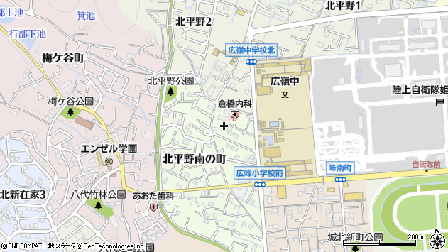 〒670-0887 兵庫県姫路市北平野南の町の地図